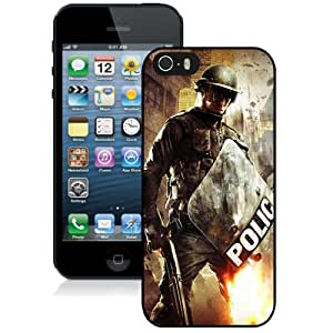 Hot Sale iPhone 5 5S Cover Case ,Urban Chaos Riot Response Black iPhone 5 5S Phone Case Unique And Fashion Design