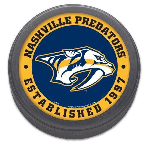 NHL Nashville Predators Hockey Puck