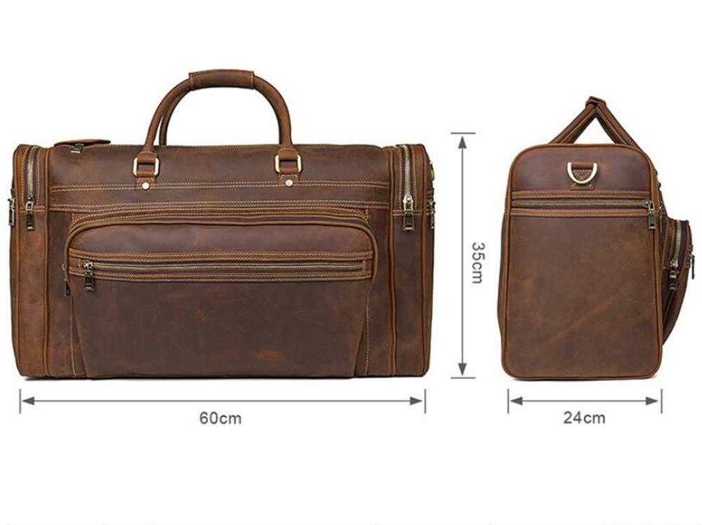 102ea473fe2f Amazon.com: AYMMY Vintage Leather Travel Bag Fashion Large Capacity ...