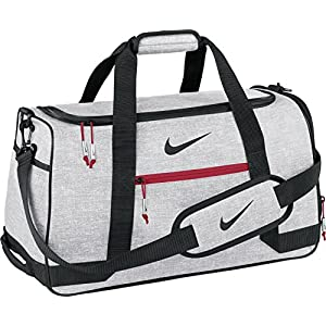 Nike Sport Duffel III Gym Bag, Silver/Black/Gym Red