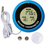 Colori Digital Aquarium Thermometer Fish Tank Water Terrarium Reptile Thermometers Marine Temperature