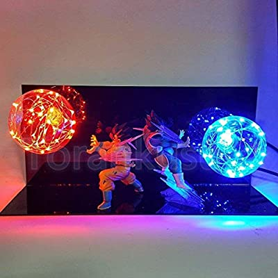 KAKALIN New Dragon Ball Z Vegeta & Son Goku Power Up Led Light Lamp Whole Set Gift Toys for Xmas: Toys & Games