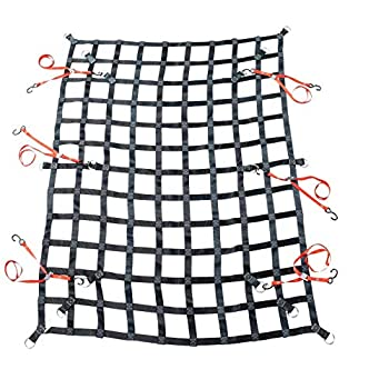 Image of Mytee Products 6' x 8' Heavy Duty Cargo Net w/D Rings for Pickup Truck Cargo Nets