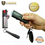 Micro Stun Gun Keychain Pepper Spray Self Defense Kit Bundle. Personal Non Lethal Weapons For Women Or Men. High Volt Rechargeable Key Chain Taser & Key Ring Max Strength Pepper Defence Spray (BLACK)