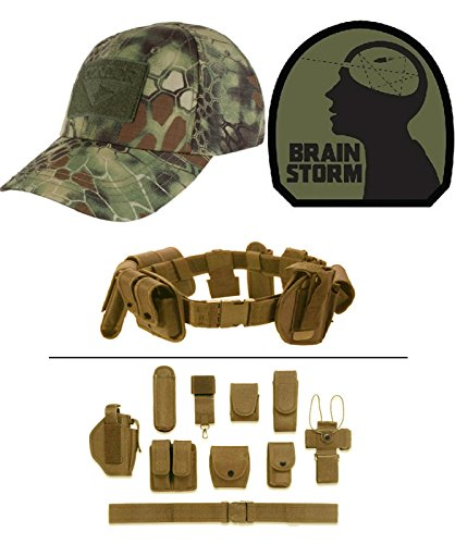 Cap Kryptek Mandrake + BRAIN STORM OD GREEN + Tan Duty Belt (Mandrake Halloween Costume)