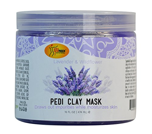 Spa Redi Pedi Clay Mask (Lavender & Wildflower, 16 (Lavender Clay Mask)