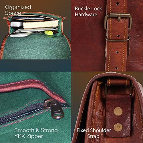 3e63a038d390 Genuine Leather Messenger Bag for Men Women iPad - Vintage Crossbody Satchel  Bags by Rustic Town