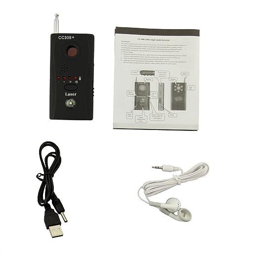 Detector de micrófonos ocultos microespías CC308 bug detector anti-espía de RF para DECT, micrófono oculto inalámbrico y aparatos de escuchar: Amazon.es: ...
