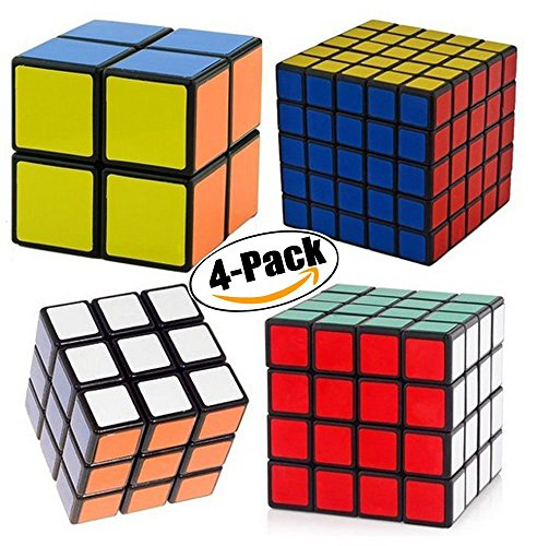 Black Cube Collection - GCA 2x2x2,3x3x3,4x4x4,5x5x5 Puzzle Cube,Speed Cube Collection , Black