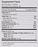 Coromega Omega-3 Fish Oil Squeeze Packets, DHA and EPA, Orange Flavor, 90-Count Box