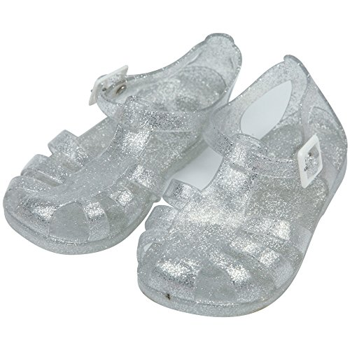 iFANS Child Anti-slip Transparent Shiny Jelly Shoes Roman Sandals for Girls, Babies Toddlers (Shoes Roman Sandals)