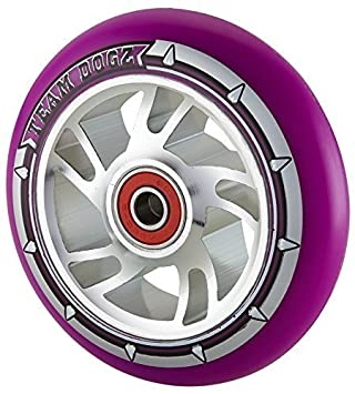 1 x Team Dogz 100mm Espiral Aleación Base & Morado ...