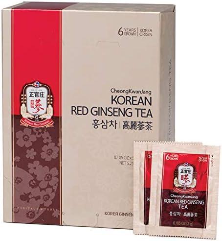 KGC Cheong Kwan Jang Korean Red Ginseng Tea Convenient Natural and Organic Ginseng Tea – 50 Bags