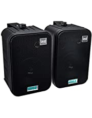 Pyle Home PDWR50B 6.5-Inch Indoor/Outdoor Waterproof Speakers (Black) (Pair)