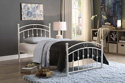 home, kitchen, furniture, bedroom furniture, beds, frames, bases,  beds 1 image Homelegance Tiana Metal Platform Bed, Twin, White promotion