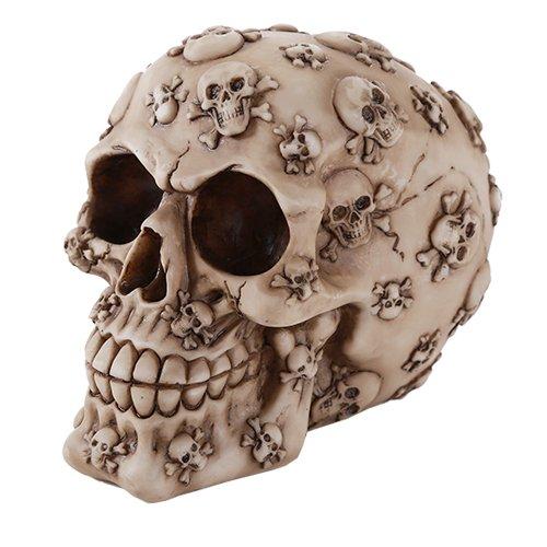 Pacific Giftware Skull Cross and Bones Skull Money Bank 4.25 Inches Halloween Decor Gift]()