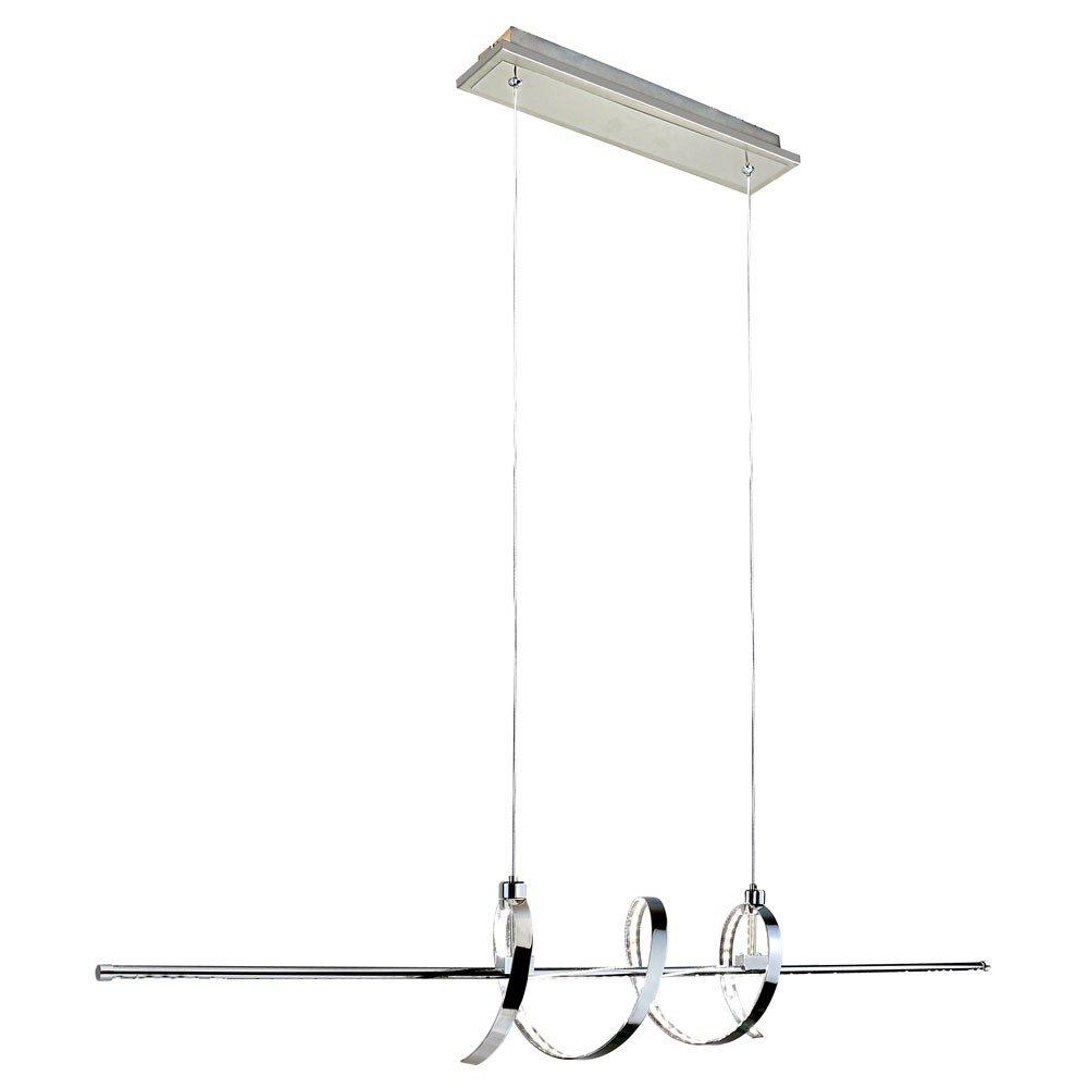 24 Watt SMD LED Pendel Hänge Lampe Wohnraum Flur Leuchte silber Kunst EEK A+ Esto 780170