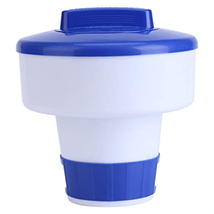 Dispensador cloro flotante, Dispensador químico, Flotador de cloro para piscinas y spa, Kits de mantenimiento para piscinas(M)