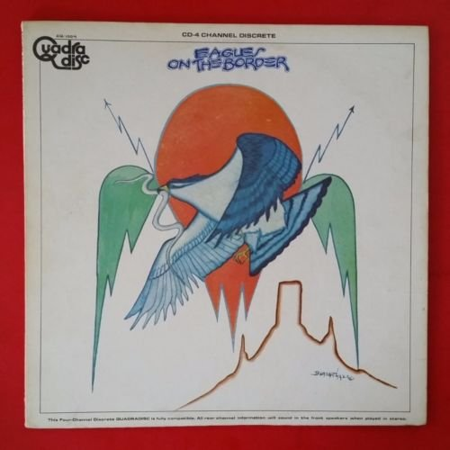 EAGLES On The Border Quadradisc LP Vinyl VG++ Cover for sale  Delivered anywhere in USA