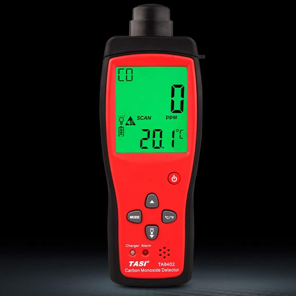 TA8402 Medidor de Monóxido de Carbono de Mano Analizador de Gas Detector de Gas de CO Detector de Alta Precisión Monitor de gas de CO probador Sensor de CO: ...