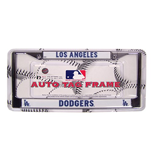 MLB L.A. Dodgers Chrome License Plate - Baseball Plates Mlb Plate License