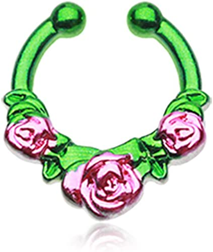 Rose Garden Icon Freedom Fashion Fake Septum Clip-On Ring