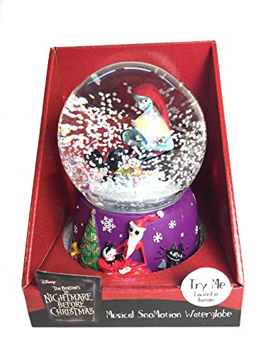 Sally and Black Cat Musical SnoMotion Waterglobe - Nightmare Before Christmas Snowglobe by Nightmare Before Christmas (Image #2)