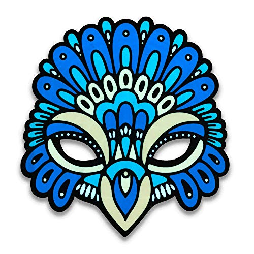 Outline Montréal Official (Peacock) Sound Reactive LED Mask Perfect for Halloween, Cosplay Events and Music Festivals