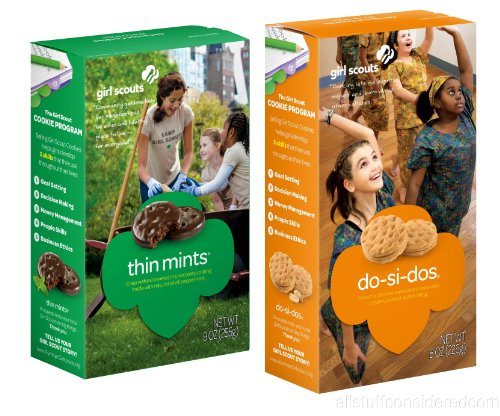 (Girl Scout Cookies, 2 Pack, Thin Mints and Do-si-do (Peanut Butter Sandwich) Combo Pack)