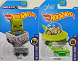 2017 Hot Wheels Hw Screen Time - Minecraft & The Jetsons