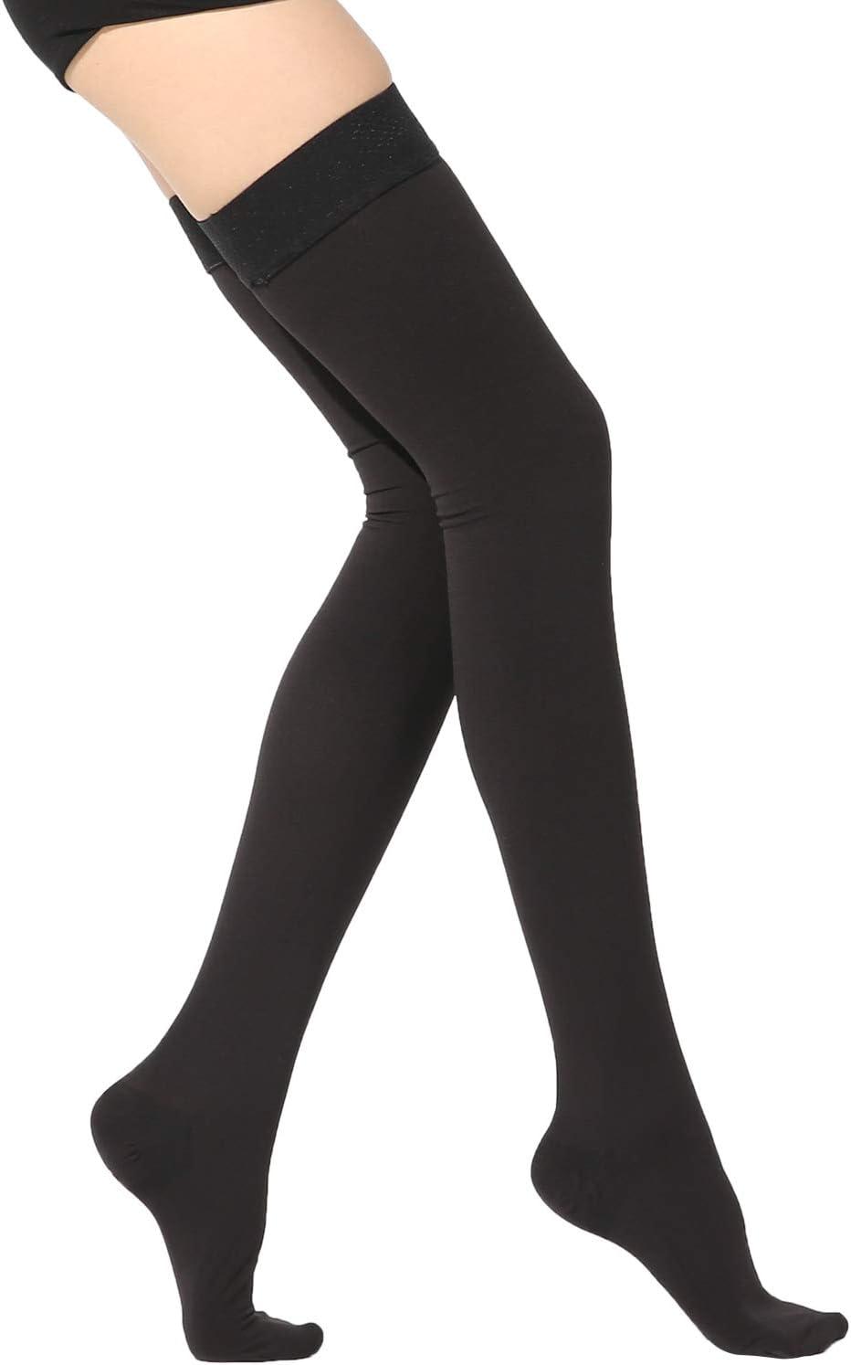 30-40 mmHg Ztl Thigh High Compression Stockings Women Men Open Toe