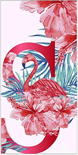 Elezay Women's Outdoor Thick Rectangle Beach&Pool Towel Blanket Red Flamingo 76x155cm - 155 Pool