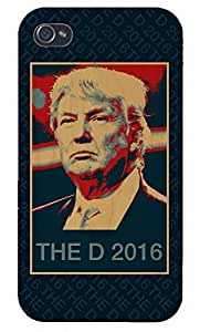 Apple iPhone Custom Case 4 4S White Plastic Snap On - THE D 2016 - Presidential Candidate Design