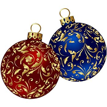 Christmas ornaments repositional and removable wall decal for Christmas wall art amazon