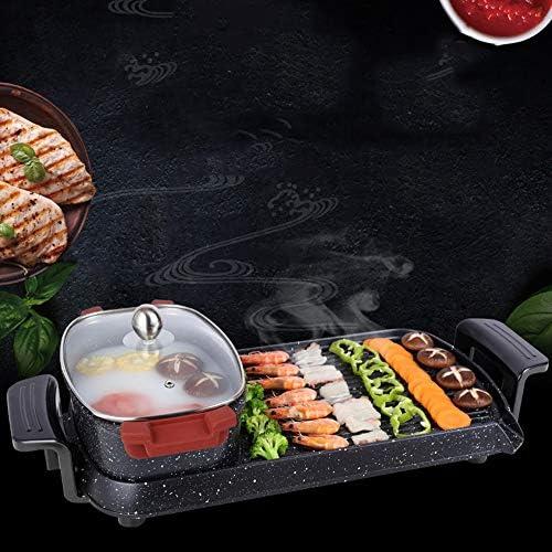 H-LML Plat à Barbecue Multifonctions One-Pot Home Casserole électrique antiadhésive sans fumée à l'intérieur Barbecue Polyvalent Barbecue électrique