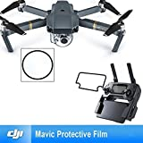 Bestmaple Protection of the screen of the camera lens and the remote control for drone film two five-sheet set for DJI Mavic Pro