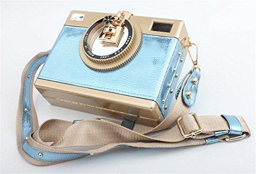 Frizione Blu Piazza Della Stile Night Tracolla Fotografica Good Macchina Di Elegante Cuoio Sera Borsa A B68xxqg