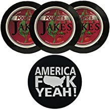 Jake's Mint Chew Cherry POUCH - 3 Cans - Includes DC Skin Can Cover (America Skin)