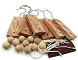GREENLE UG001 Moth Protection Natural Cinnamomun Camphora Root Hang Up and Moth Balls– Hanger Repellent Odour Fragrance Storage Protection for Clothes Wardrobes Closets Freshener (18 Items)