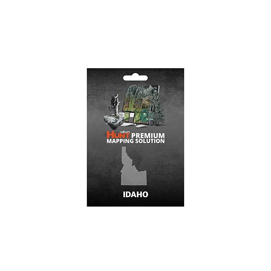 Idaho Hunting Maps: onX Hunt Chip for Garmin GPS Public & Private Land Ownership Hunting Units & Zones Includes Premium Membership for onX Hunting App for iPhone, Android & Web