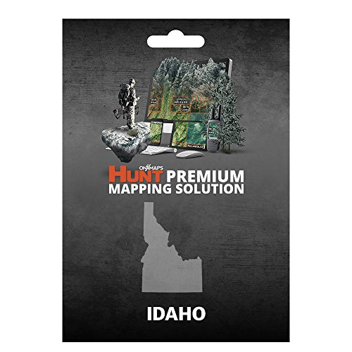 onX HUNT Idaho: Digital Hunting Map For Garmin GPS + Premium Membership For Smartphone and Computer Color Coded Land Ownership 24k Topo Hunting Specific Data