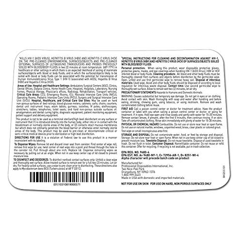 PDI Super Sani-Cloth Germicidal Disposable Wipes, Large - 6 x 6.75 Inch, Q55172 (Case of 1920) by Professional Disposables International (Image #2)