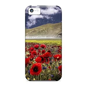 LJF phone case New Premium HgkvUou7241FTqMk Case Cover For Iphone 5c/ Castelluccio Umbria Italy Protective Case Cover