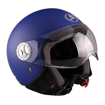 AL Helmets 101 COLORE BLU ELETTRICO OPACO MISURA S CASCO DEMI-JET MOD