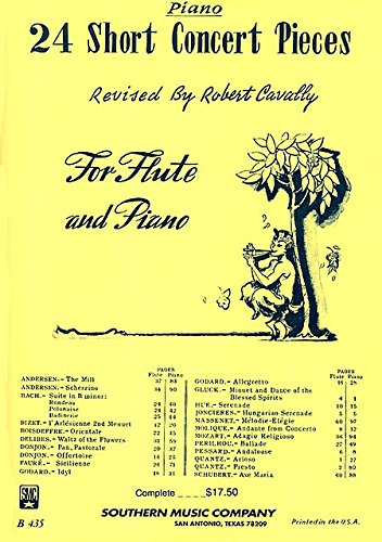 24 Short Concert Pieces for Flute and Piano (2-book set)