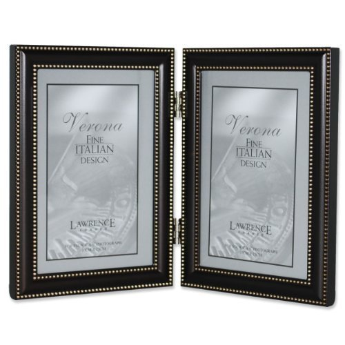 Lawrence Frames 5 by 5 Metal Picture Frame Oil Rubbed Bronze with Delicate Beading 510655