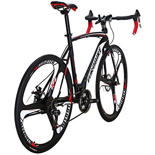 Eurobike Road Bike TSM XC550 Bike 21 Speed Dual Disc Brake 54CM 3-Spoke Wheels Bicycle