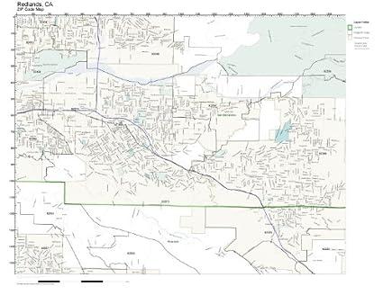 Redlands Zip Code Map.Amazon Com Zip Code Wall Map Of Redlands Ca Zip Code Map Laminated