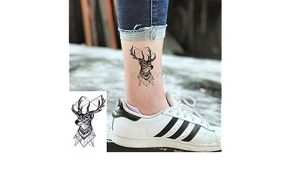 ljmljm 5 Piezas Pegatinas de Tatuaje a Prueba de Agua números ...