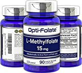 Opti-Folate L-Methylfolate 15 mg (90 Capsules) | Optimized and Activated | Max Potency | Non-GMO, Gluten Free | Methyl Folate, 5-MTHF